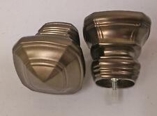 Kirsch Anubis Finials (P/N 1831941) for 1-3/8 Poles. 1 Pr. in Caramel Bronze