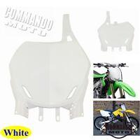 White Universal Front Number Plate Fit Honda CRF 250 450 Motocross Dirt Bike