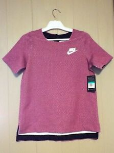 Nike Girls XL Shirt Sportswear Tech Fleece, Magenta pink purple 830721 665 New