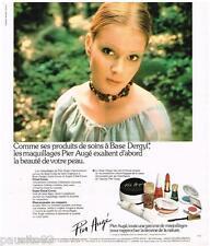 PUBLICITE ADVERTISING 095  1976   PIER AUGE  maquillage  Vernis rouges à lèvres