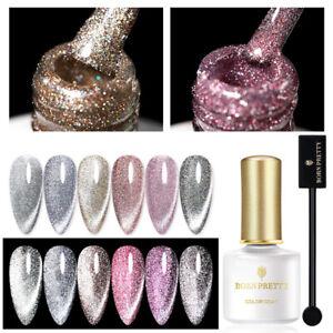 BORN PRETTY Reflective Gel Polish Set Shining Glitter Aurora Nail Art Magnetic