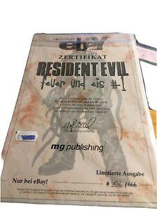 Resident Evil Feuer und Eis Nr.1 2001 eBay Variantcover mit Zertifikat 666 Stk.