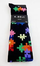Puzzle piece knee socks ladies 9-11 Autism Awareness K. Bell