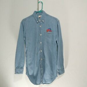 Planet Hollywood Vintage 90s Denim Button Down Shirt Adult Small cotton