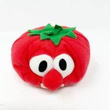 Vtg Veggie Tales Bob the Tomato Stuffed Toy Animal 1998 Zip Big Ideas Red Bible