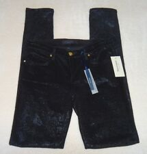 "NWT Juicy Couture ""Black Sparkle Coat Cord"" Skinny Jeans (Size: 26)"