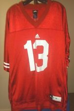 Wisconsin Badgers NCAA Adidas Red Conner O'Neill #13 XL Football Jersey
