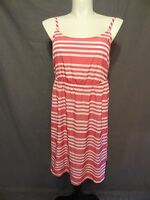 Lane Bryant Pink/White Stripes Dress spaghetti straps plus size 26/28