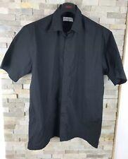 YSL yves Saint Laurent Mens Size L Black Short Sleeve Shirt