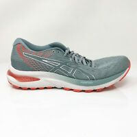 Asics Womens Gel Cumulus 22 1012A741 Gray Orange Running Shoes Lace Up Size 8.5