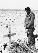 WWII B&W Photo German Soldier Grave Afrika Korps WW2 World War Two / 2012