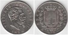 5 LIRE 1876 ZECCA DI ROMA VITTORIO EMANUELE II ( 1861 - 1878 )