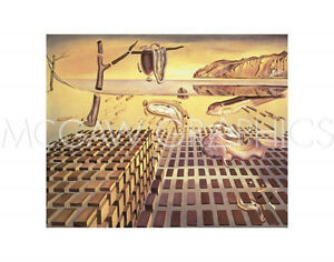 """DALI SALVADOR - THE DISINTEGRATION OF THE PERSSTENCE OF MEMORY,1952-54-11""""x14"""""""