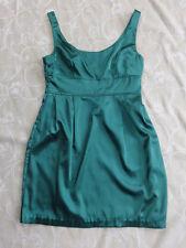 Supre Green Satin Look Dress Women's Size M