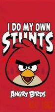 Official Angry Birds Red Cotton Beach Bath Towel I Do My Own Stunts New Gift