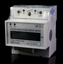 DDS238-4 110V Single Phase DIN-rail Type Kilowatt Hour kwh Meter 60hz 20(100A)