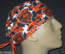 CHICAGO BEARS CAMMO BRUSHED COTTON SURGICAL SCRUB HAT / FREE CUSTOM SIZING!