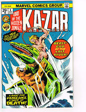 KA-ZAR #6 MARVEL COMIC 1974 VF/NM ALCALA & BUSCEMA DINOSAUR ART