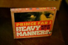 Heavy Manners Anthology by Prince Far I (2CD, Oct-2003, Trojan) NEW