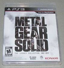 Metal Gear Solid: Legacy Collection for Playstation 3 Brand New! Factory Sealed!