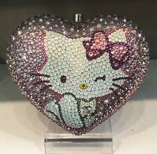 NIB Crystal Bag Clutch Hand Bag made with swarovski elements Heart Hello Kitty