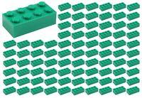 ☀️100 NEW LEGO 2x4 GREEN  Bricks (ID 3001) BULK Parts GRASS