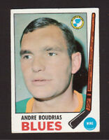 Andre Boudrias St. Louis Blues 1969-70 Topps Hockey Card #16 EX/MT- NM