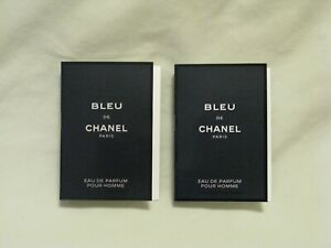 CHANEL 'Bleu de Chanel' EDP 2x Spray Sample Vial - Beautiful & New