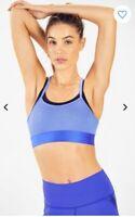 Fabletics Women's Poppy Seamless Sports Bra IIBlue with tags size medium
