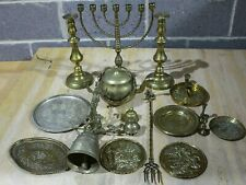 More details for approximately 7kg brass & copper assorted ornaments bell candle stick plates etc