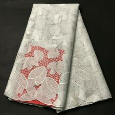 White French Net Swiss Voile Lace Dress African Tulle Lace Fabric With Stones 5Y