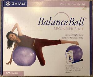 Gaiam Balance Ball Beginner's Kit Includes Small Balance Ball, Air Pump and VHS