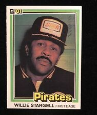 WILLIE STARGELL 1981 DONRUSS AUTOGRAPHED SIGNED AUTO BASEBALL CARD RARE 132 PIRA