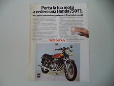 advertising Pubblicità 1977 MOTO HONDA CB 750 FOUR F1