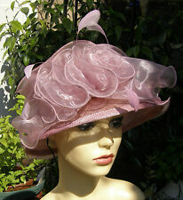 STUNNING ROMAN ORIGINALS LILAC ORGANZA BURST OCCASION HAT RACES / WEDDING