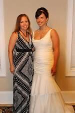 David's Bridal Taffeta Scoop Neck Tiered Mermaid Wedding Dress Size 10 Ivory