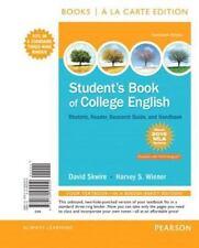 STUDENT'S BOOK OF COLLEGE ENGLISH - SKWIRE, DAVID/ WIENER, HARVEY S. - NEW BOOK