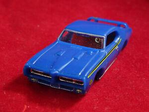 MoDEL MoToRING 69 Blue GTO Judge T-jet HO Scale Slot Car Body Aurora RRR