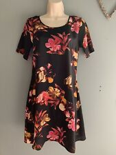 Peacocks Floral Short Sleeve Dress Size 10