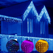 LED Fairy Lights Snowing Icicle String Lights Indoor Outdoor Christmas Lamps UK