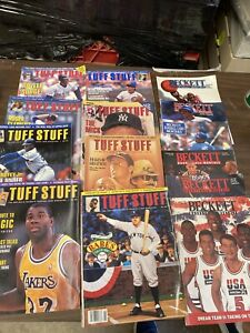 14 Late 1980's Early 90's Tuff Stuff And Beckett Magazine Price Guides Mantle