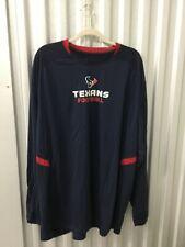 Texans Football Reebok Long Sleeve Performance Player Shirt Size 3Xl