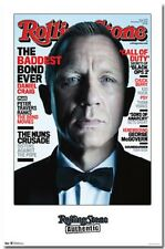 JAMES BOND DANIEL CRAIG ROLLING STONE COVER POSTER 22x34 NEW FAST FREE SHIPPING