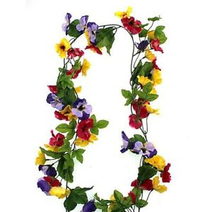 Pansy Flower Faux Artificial Garland From Dunelm Mill
