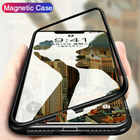Magnetic Adsorption Double Side Glass Case Cover For iPhone XR Xs Max 6 7 8 Plus