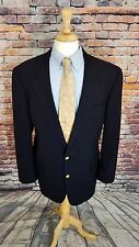 Brooks Brothers BrooksEase 46XL Navy Blue 2 GOLD Button WOOL Sport Coat Jacket