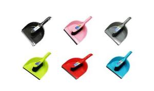 Dustpan & Stiff Brush Set Plastic Hand Dust Pan Household Cleaning