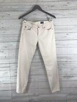 AG Adriano Goldschmied The Stevie Ankle Slim Straight off white Size 28R