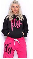Flypolar Womens 3xl Black And Pink Sweat Suit Set