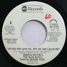 Soul Promo 45 Harold Melvin & The Blue Notes Featuring Sharon Page - After You L
